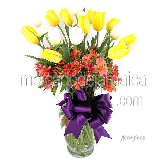 Florerias en Reforma Tulipanes Amarillos Diosa Yellow !| Envia Flores