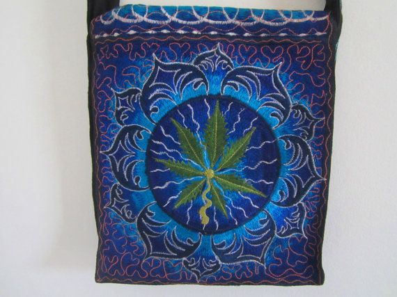 small crossbody bag hippie style with blue by elephantsofindia, $25.00