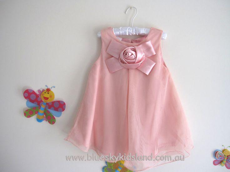 NEW Girls Holly Chiffon Dress Sz 1-12Yr  in Pink - Navy - Purple