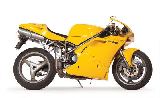 And in yellow, 1996 Ducati 916 Biposto