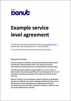 Example Service Level Agreement Service Level Agreement