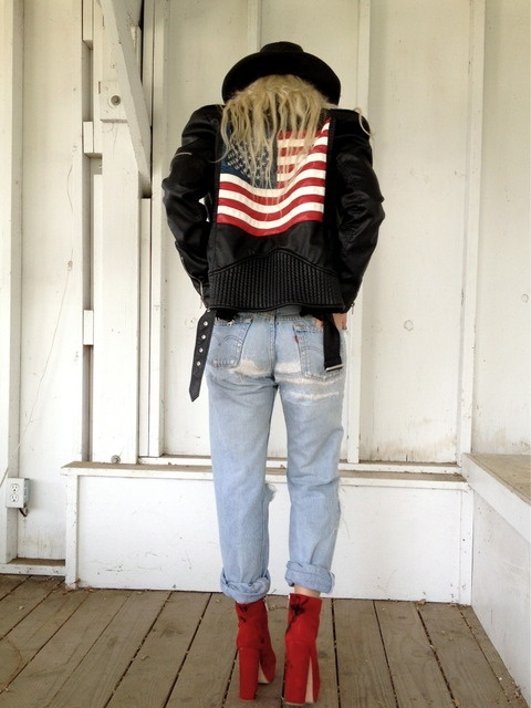 Brittany from Waltz in Black in the UNIF Americana Moto Jacket