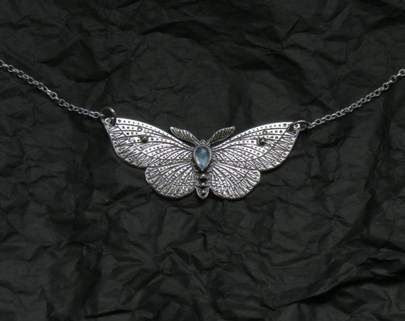 Hey, I found this really awesome Etsy listing at https://www.etsy.com/listing/197378222/moth-necklace-silver-butterfly-necklace