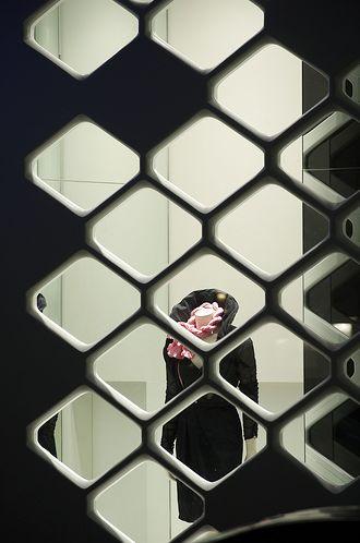 Sportalm fashion store, Vienna, Comb-like façade made with DuPont™ Corian®, Photos: Baar-Baarenfels Architekten, Vienna