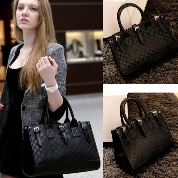 Cheap handbag umbrella, Buy Quality handbag labels directly from China handbag embroidery Suppliers:         2014 New Fashion Vintage Women's Black Check Leather Totes Shoulder Bags Classic Ladies OL Work Menssenger