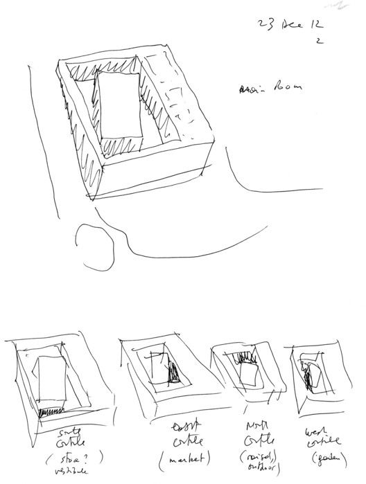Sketch. Image Courtesy of Bernard Tschumi Architects