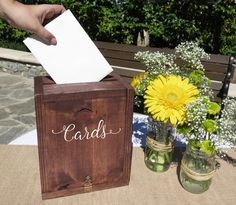 Rustic Wedding Card Box / Wedding Card Holder : We saw a need for a rustic wedding card box that could also double as a keepsake. We wanted to do