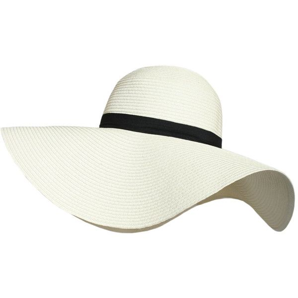 Pilot Masie Wide Brim Straw Floppy Hat ($23) ❤ liked on Polyvore featuring accessories, hats, cream, summer hats, straw hat, brimmed hat, brim straw hat and floppy summer hat