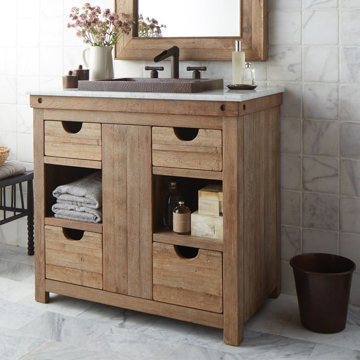 Photographic Gallery Reclaimed Wood Bath Vanities Native Trails Chardonnay Vanity Made from wine stained oaking staves Vintner us Collection