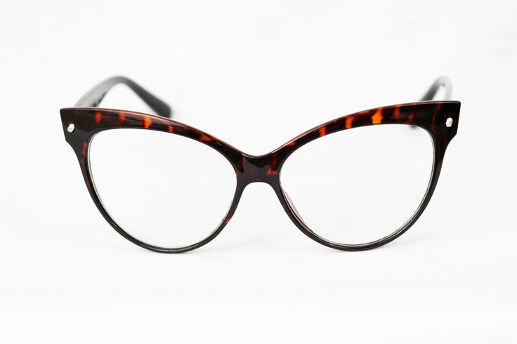These Statement Cateye Glasses are so good in Dark Tortoiseshell!  Dark and moody, they're best paired with a good read in your favorite coffee shop.