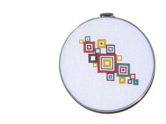 Mod+squares+modern+cross+stitch+pattern+by+wallwork+on+Etsy