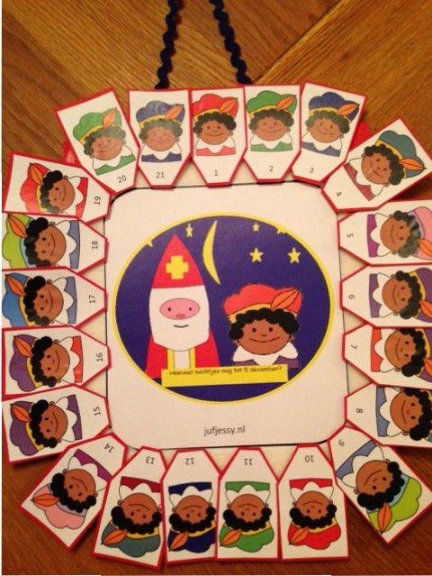 Aftelkalender Sinterklaas, voor thuis of op school!