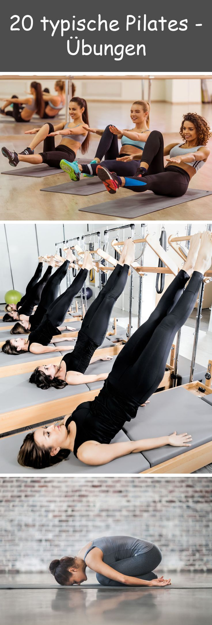 Turnen nach Joseph Pilates steigert Koordination und Kraft, verbessert die Haltung und soll flexibler machen. Dazu sorgen die Übungen mit jeder Menge Körperspannung für kräftige, schlanke Muskeln. Unsere Bilderstrecke gibt ihnen einen Einblick, wie das Pilates-Training aussieht.  #pilates #übungen #turnen #gesund #fitness