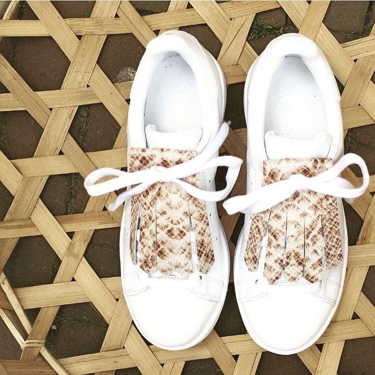 • Kiltie brown snake • Adidas Stan Smith • Sneakers •