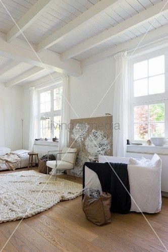 Die besten 25+ Holzdecke weiß Ideen auf Pinterest Holzdecke, Ein - wohnzimmer grau weis holz