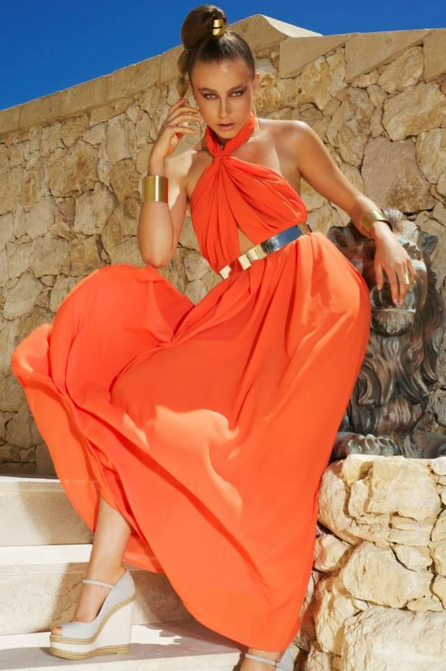 Larissa dress orange