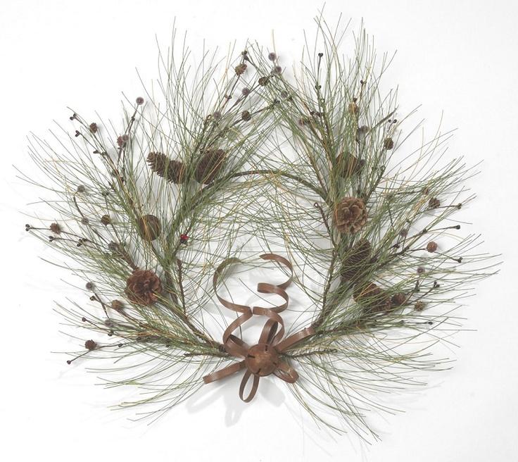 "20""Wreath-N.Pine/Bell/Cone/BerryRbn"
