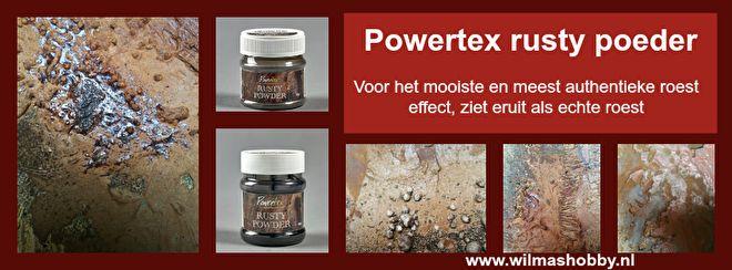 Het meest natuurlijke roest effect ooitKies bij voorkeur voor een lichte kleur Powertex zoals Ivoor, Gele Oker, Terracotta of Rood. Of meng Ivoor met de gekozen kleur Powertex.