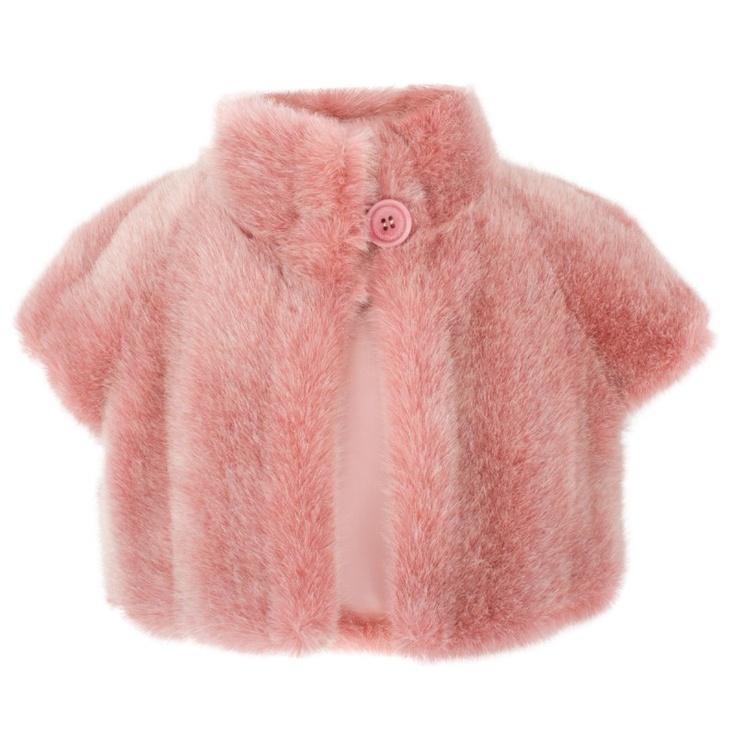 I Pinco Pallino Pink Faux Fur Jacket