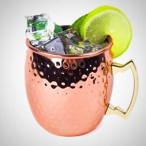 Hammered Copper-Plated Moscow Mule Mug.