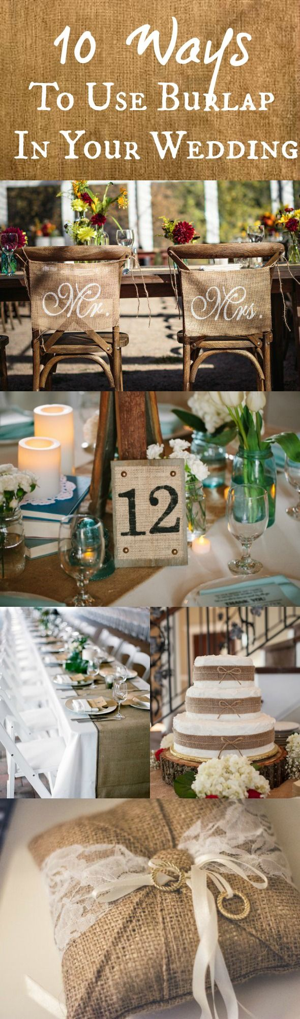 272 best burlap wedding ideas images on pinterest burlap weddings 10 ways to use burlap at your wedding junglespirit Choice Image