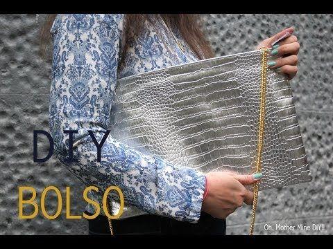 DIY: Bolso de mano de cuero negro con tachuelas / DIY studded bag - YouTube