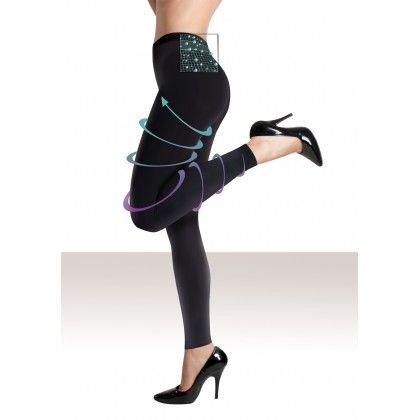 Legging Minceur Jambes Tonifiées Noir - Lytess - Allégez votre silhouette et vos jambes grâce à la combinaison d'un textile à compression dégressive et un complexe cosmétique amincissant. 59,90€