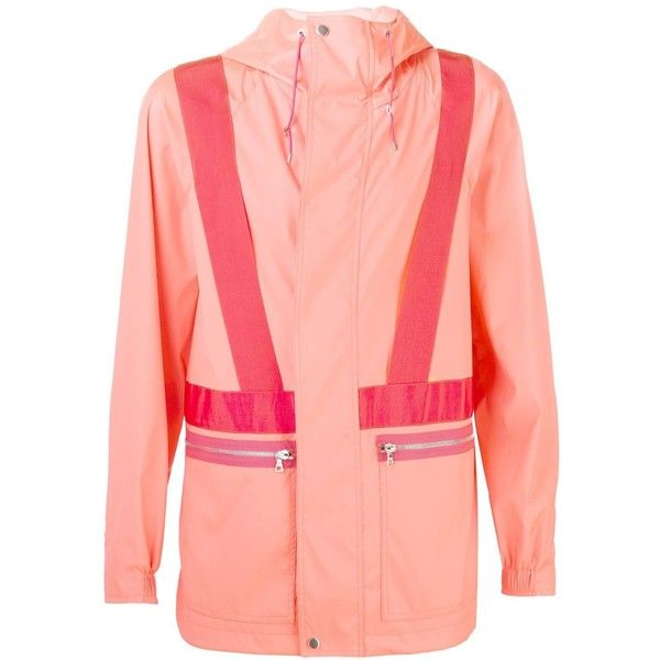 OAMC 'Solo' Parka (5 380 ZAR) ❤ liked on Polyvore featuring men's fashion, men's clothing, men's outerwear, men's coats, pink, mens parka coats and mens pink sport coat