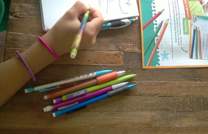 BIC Mechanical Pencils: Xtra-Sparkle kids' favorite pencils  come in nice and sparkly fun design. #BIC #pencils