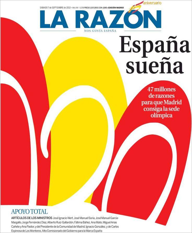 Los Titulares y Portadas de Noticias Destacadas Españolas del 7 de Septiembre de 2013 del Diario La Razón ¿Que le pareció esta Portada de este Diario Español?