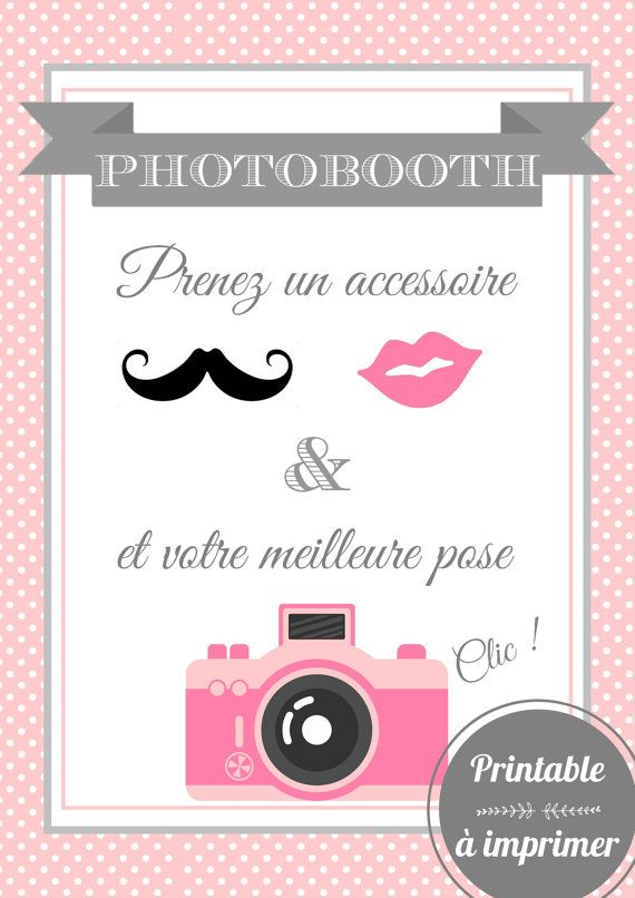 affiche photobooth imprimer poster and etsy. Black Bedroom Furniture Sets. Home Design Ideas