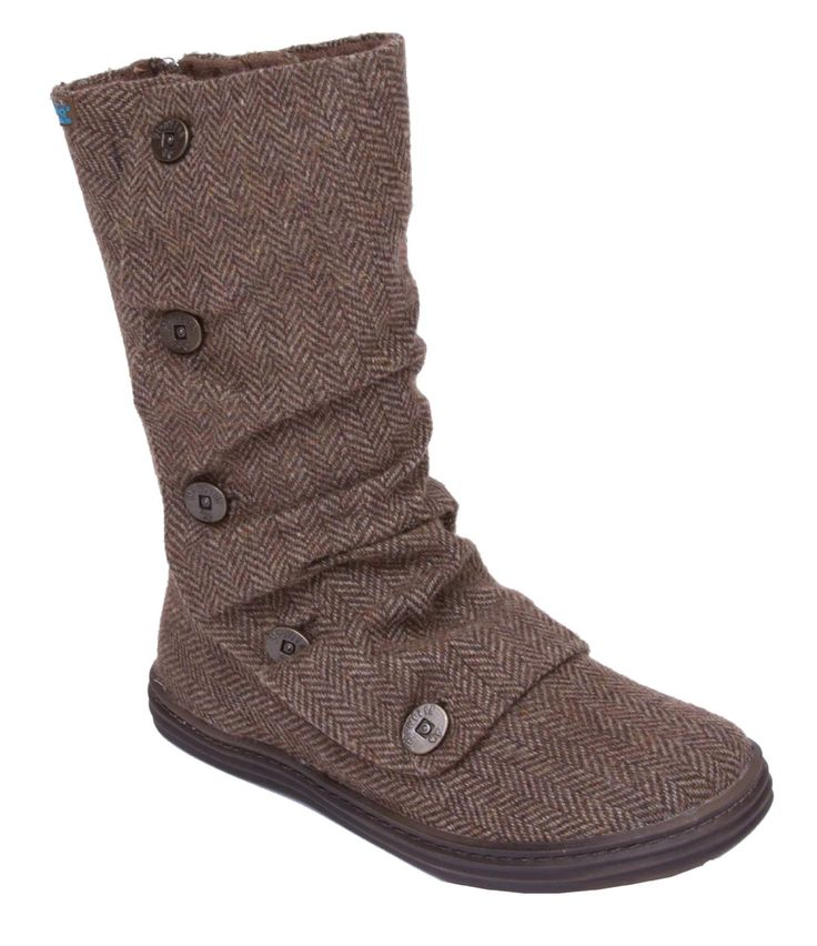 Our Rammish boot is our 2012 take on our popular Hamish boot - it's back and better than ever! With a ridged rubber bottom, updated Blowfish buttons along the side and chic colorful lining, this is the perfect winter for you!