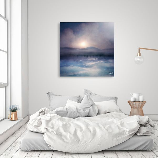 Discover «Sunset I C. IV», Numbered Edition Aluminum Print by Viviana Gonzalez…