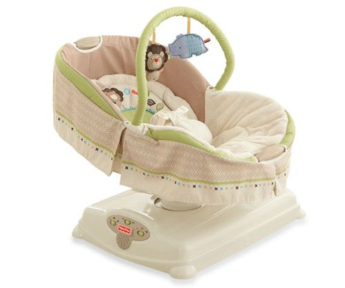 Baby Bouncers You'll Love - Best baby bouncers - Baby gear- fisher price soothing motions glider from buy buy baby $100