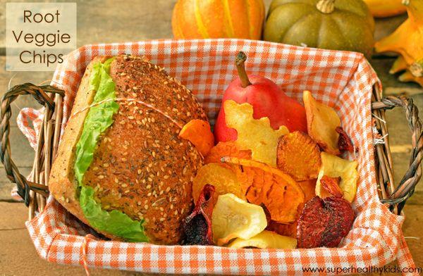 Root Veggie Chips - zdravý oběd Idea pro děti