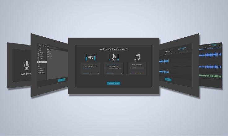 Audacity Redesign Concept by Julian Dorn (www.juliandorn.com) and Leon Schlechtriem    #ui #ux #interaction #design #usability