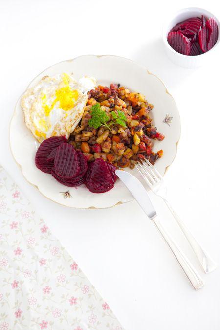 Hildas hem: Vegetarisk pyttipanna recept, ekologiskt, gott, mat, middag