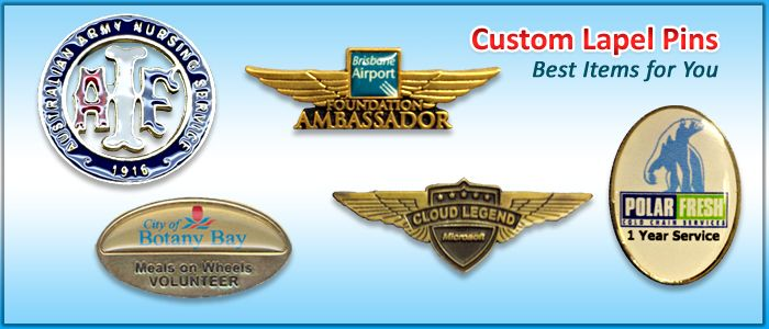Custom Lapel Pins — Best Items for You  Custom lapel pins have always been a recognized part of Australian life. Addressing support for any cause, recognized military service, or simply just for fun, custom lapel pins has grown to be a standard way of self-expression through the nation.