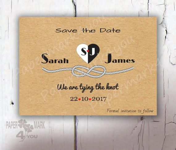 Kraft Rustic Save The Date  Printable/Physical by PaperMark4You