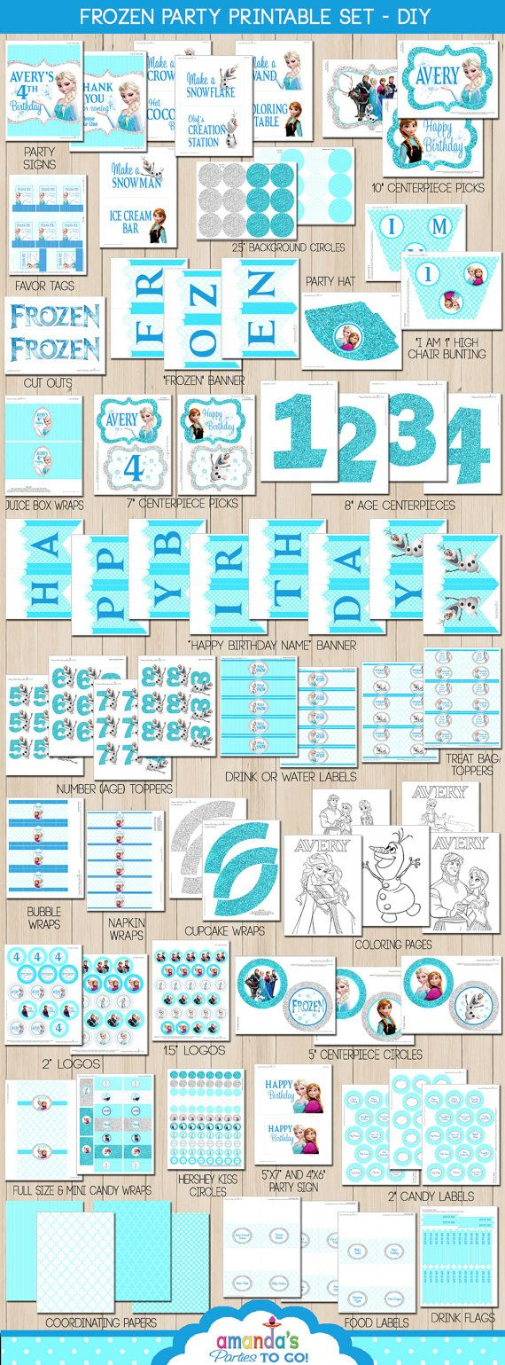 Frozen Party Printable - Frozen Birthday - by Amanda's Parties TO GO
