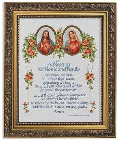 Sacred Heart Of Jesus Immaculate Heart Of Mary Catholic House Blessing – Beattitudes Religious Gifts