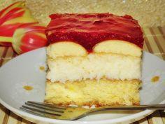 Amatorka kuchenna: Ciasto z masą kokosową i truskawkową galaretką