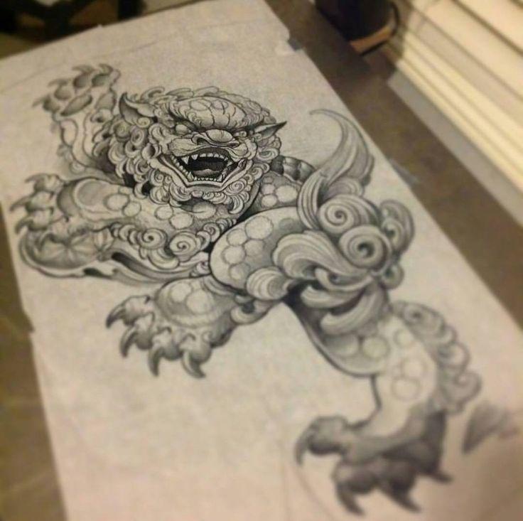 17 best ideas about foo dog tattoo on pinterest