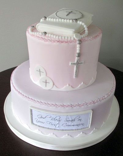I love this First Holy Communion cake!