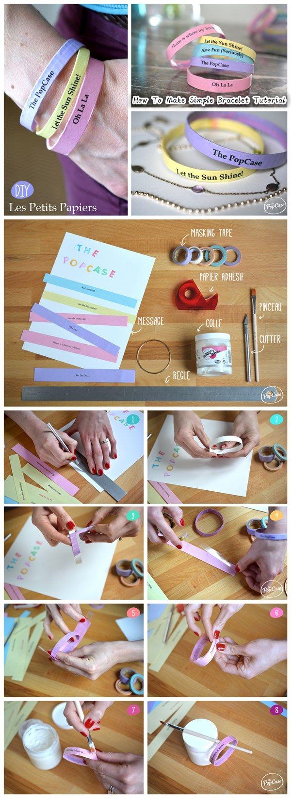 How To Make Simple Bracelet Tutorial