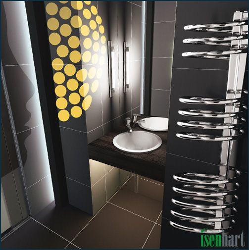 Amazing spiralf rmiger Badheizk rper Luan Handtuchhalter bathroom radiator badezimmer heizk rper https
