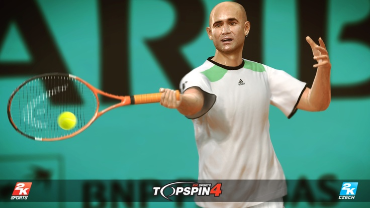 The legend of Agassi in Top Spin 4.