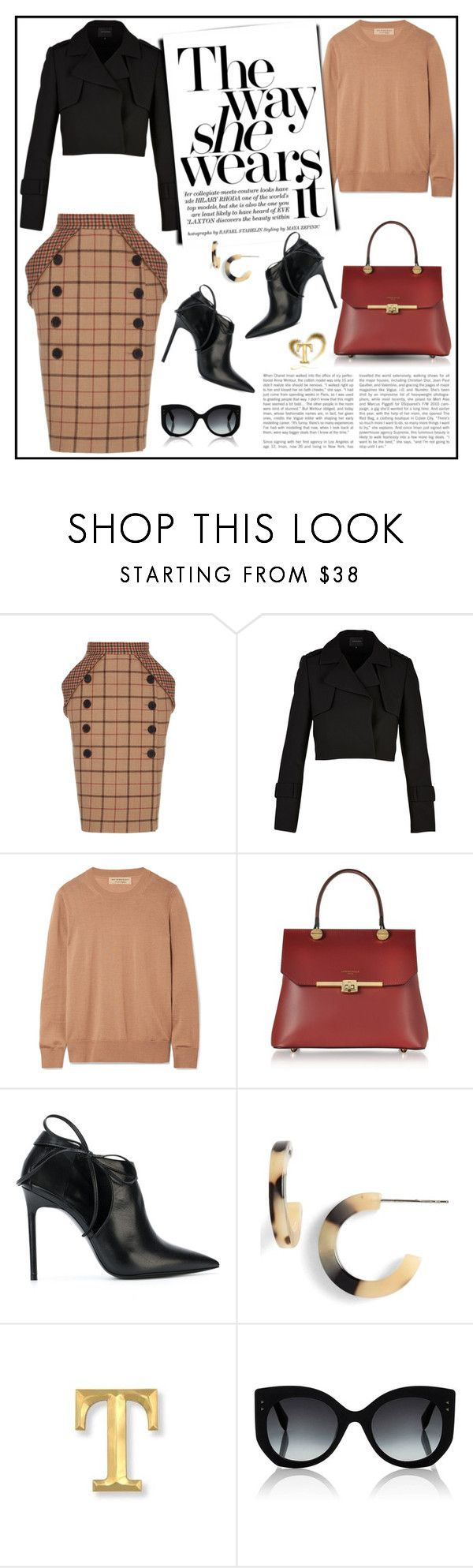 """""""Pack and Go: Paris Fashion Week"""" by gasteovska-t ❤ liked on Polyvore featuring Burberry, Le Parmentier, Yves Saint Laurent and Fendi"""