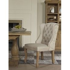 San Agosto Spruce Wood Admiral Upholstered Dining Chair