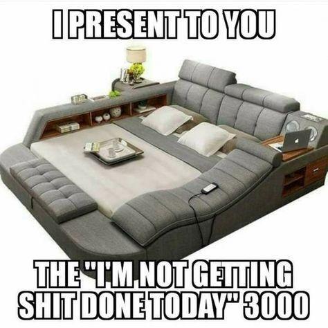 Ich würde nie wieder das Sofa verlassen!